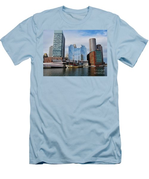 Boston Skyline I Men's T-Shirt (Athletic Fit)