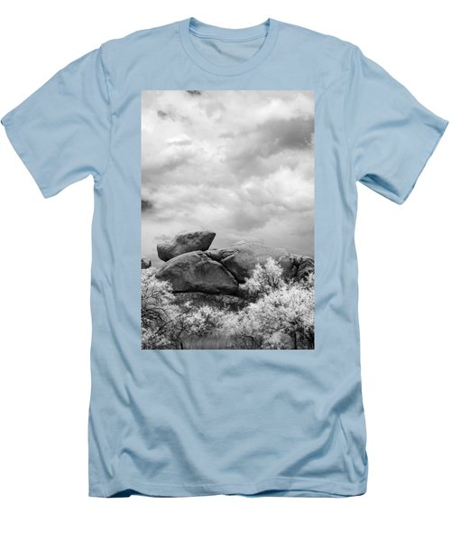 Boulders In Another Light Men's T-Shirt (Slim Fit) by Michael McGowan