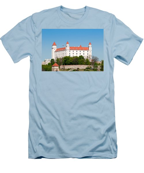 Men's T-Shirt (Slim Fit) featuring the photograph Bratislava Castle by Les Palenik