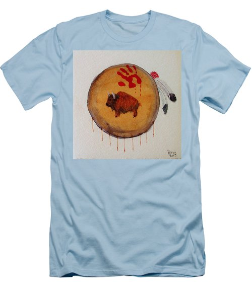Men's T-Shirt (Slim Fit) featuring the painting Brave Artifact by Rand Swift