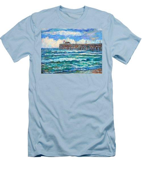 Breakers At Pawleys Island Men's T-Shirt (Slim Fit) by Kendall Kessler