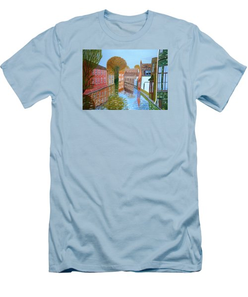 Brugge Canal Men's T-Shirt (Slim Fit) by Magdalena Frohnsdorff