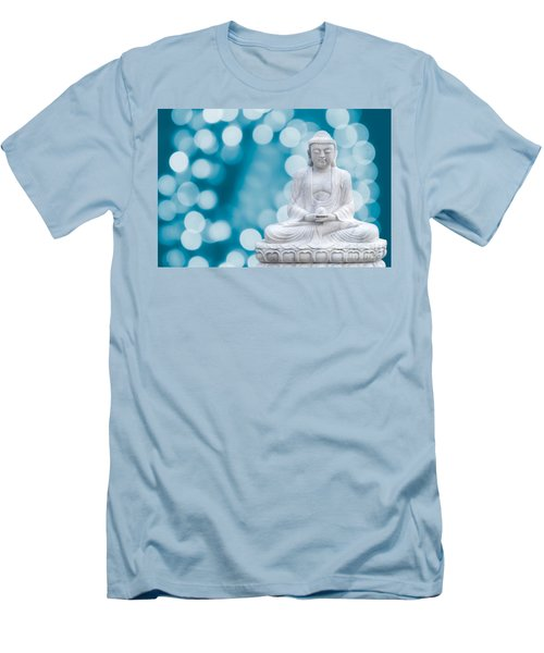 Buddha Enlightenment Blue Men's T-Shirt (Athletic Fit)