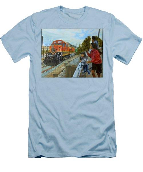 Burlington Northern Santa Fe Men's T-Shirt (Athletic Fit)