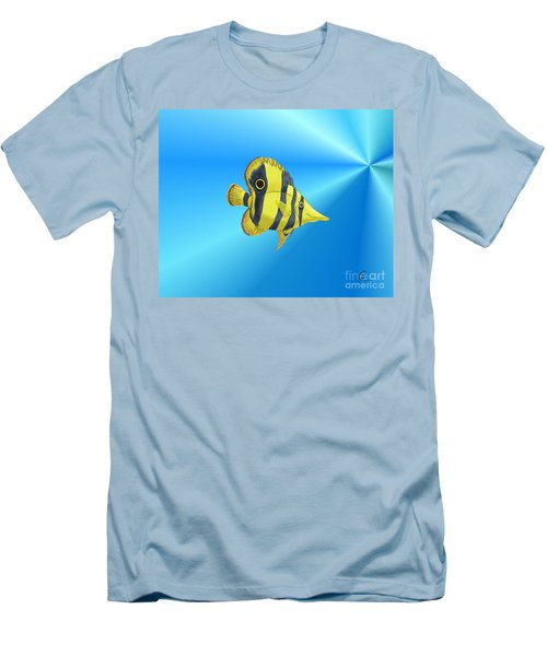 Men's T-Shirt (Slim Fit) featuring the digital art Butterfly Fish by Chris Thomas