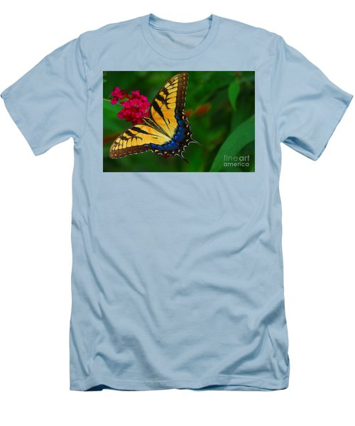 Men's T-Shirt (Slim Fit) featuring the photograph Butterfly by Geraldine DeBoer
