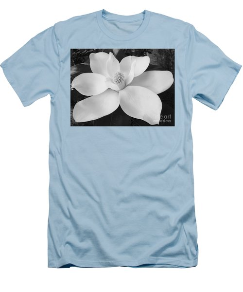B W Magnolia Blossom Men's T-Shirt (Athletic Fit)
