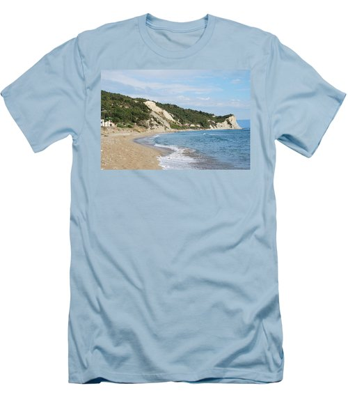 Men's T-Shirt (Slim Fit) featuring the photograph By The Beach by George Katechis