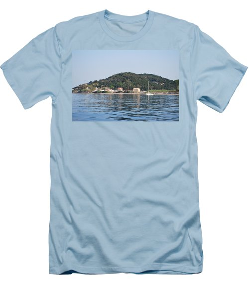 Men's T-Shirt (Slim Fit) featuring the photograph By The Sea by George Katechis