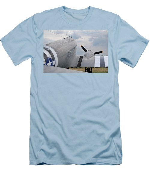 Men's T-Shirt (Slim Fit) featuring the photograph C-47 3880 by Guy Whiteley