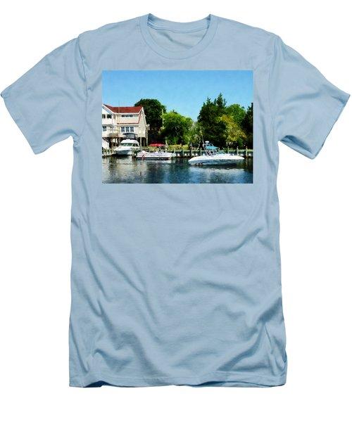 Cabin Cruisers Men's T-Shirt (Slim Fit) by Susan Savad