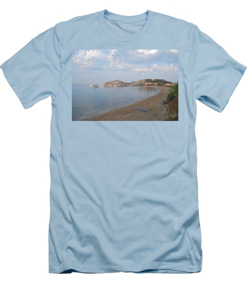 Men's T-Shirt (Slim Fit) featuring the photograph Calm Sea by George Katechis