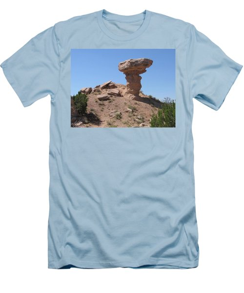 Men's T-Shirt (Slim Fit) featuring the photograph Camel Rock - Natural Rock Formation by Dora Sofia Caputo Photographic Art and Design