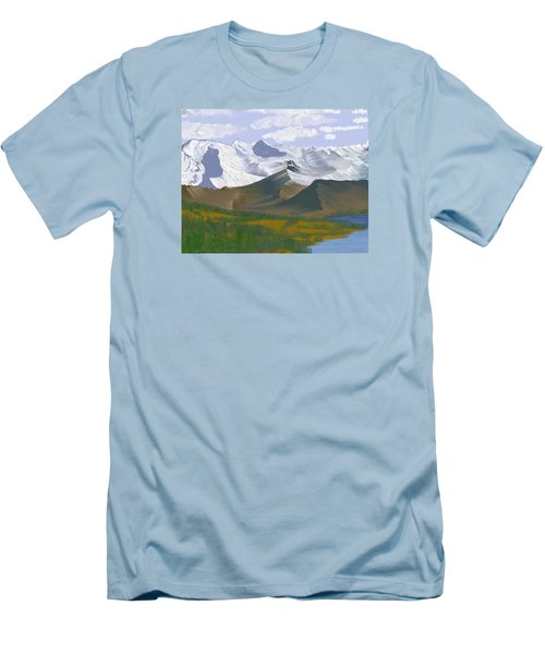 Canadian Rockies Men's T-Shirt (Slim Fit) by Terry Frederick