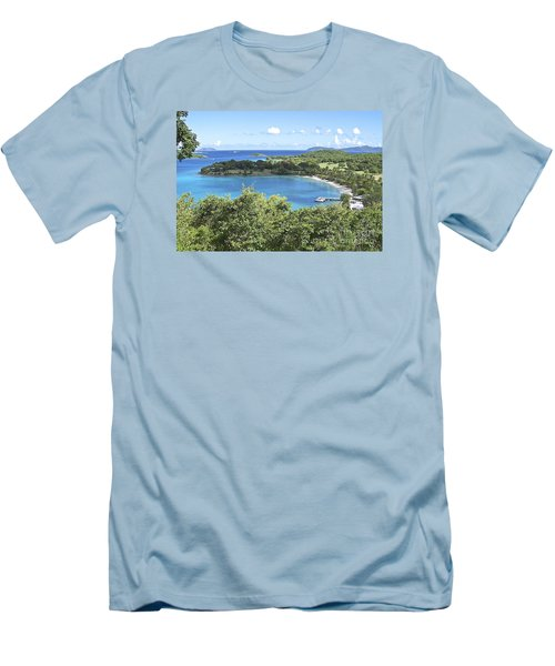 Men's T-Shirt (Slim Fit) featuring the photograph Caneel Bay by Carol  Bradley