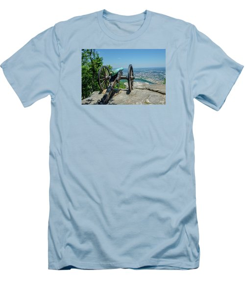 Men's T-Shirt (Slim Fit) featuring the photograph Cannon At Point Park by Susan  McMenamin
