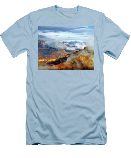 Men's T-Shirt (Slim Fit) featuring the photograph Canyon Clouds by Alan Socolik