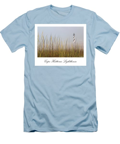 Cape Hatteras Lighthouse In The Fog Men's T-Shirt (Slim Fit) by Tony Cooper