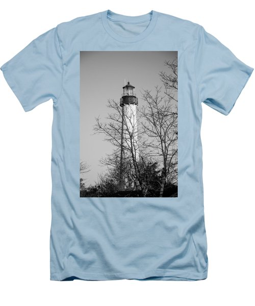 Cape May Light B/w Men's T-Shirt (Athletic Fit)