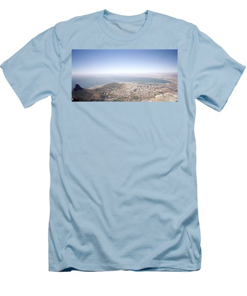 Cape Town Panorama Men's T-Shirt (Slim Fit) by Shaun Higson