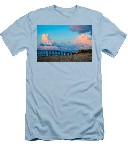 Carolina Blue Over Kure Beach Men's T-Shirt (Athletic Fit)