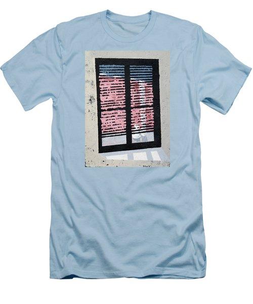 Cat N Window Men's T-Shirt (Athletic Fit)