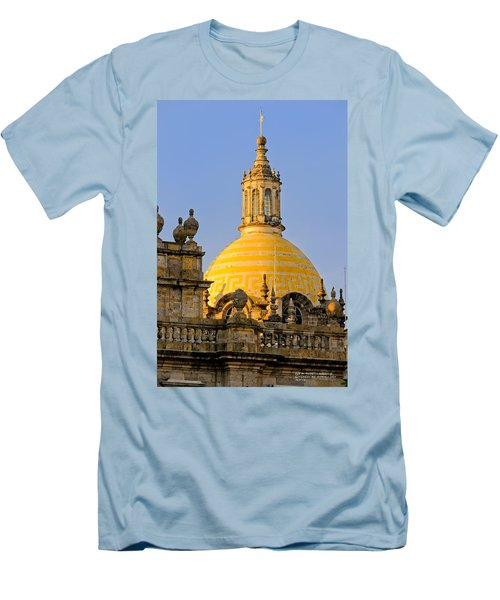 Men's T-Shirt (Slim Fit) featuring the photograph Catedral De Guadalajara by David Perry Lawrence