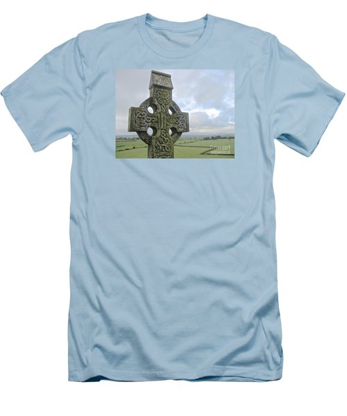 Men's T-Shirt (Slim Fit) featuring the photograph Celtic Cross by Suzanne Oesterling