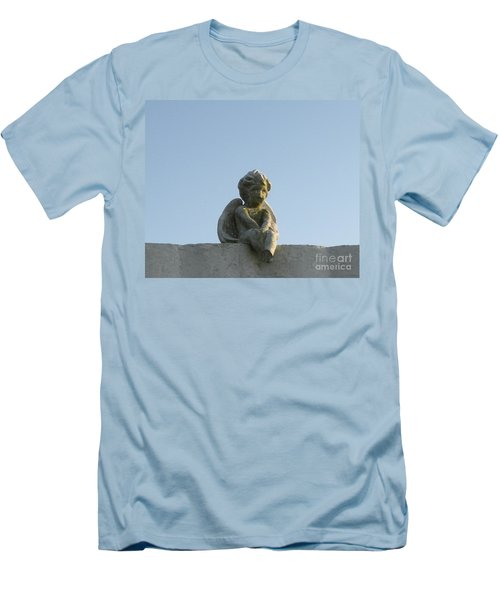 Men's T-Shirt (Slim Fit) featuring the photograph Cemetery Cherub by Joseph Baril