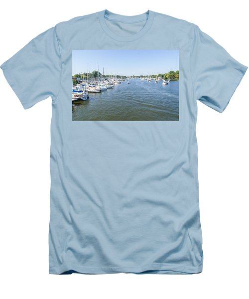 Channel Down Spa Creek Men's T-Shirt (Slim Fit) by Charles Kraus