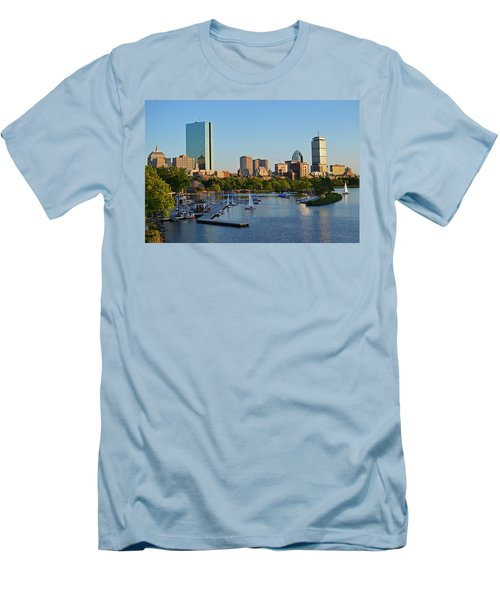 Charles River At Sunset Men's T-Shirt (Athletic Fit)