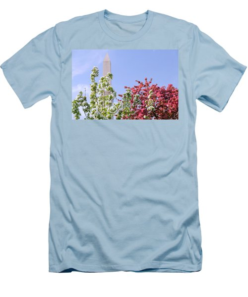 Cherry Trees And Washington Monument Four Men's T-Shirt (Athletic Fit)