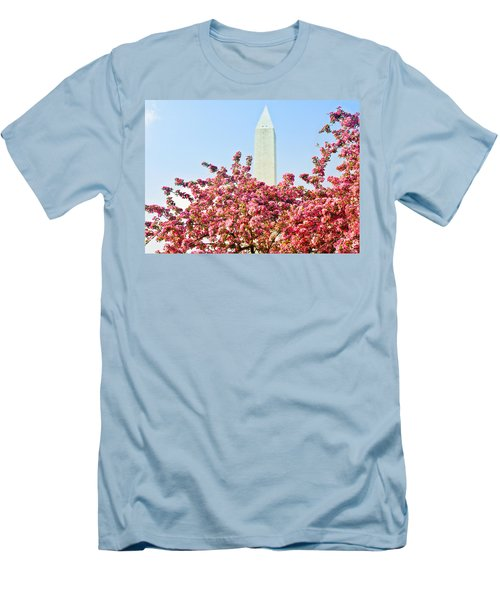 Cherry Trees And Washington Monument Two Men's T-Shirt (Athletic Fit)