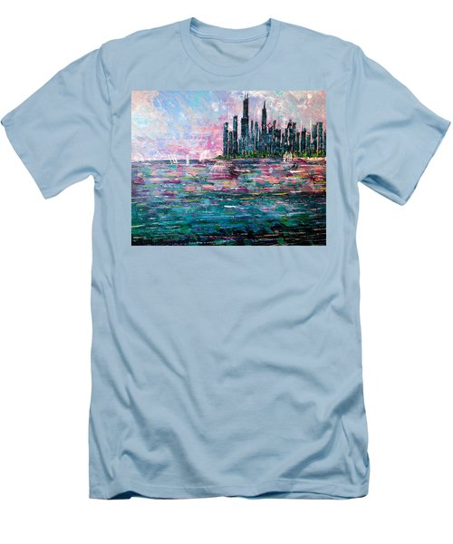 Chicago Morning - Sold Men's T-Shirt (Athletic Fit)