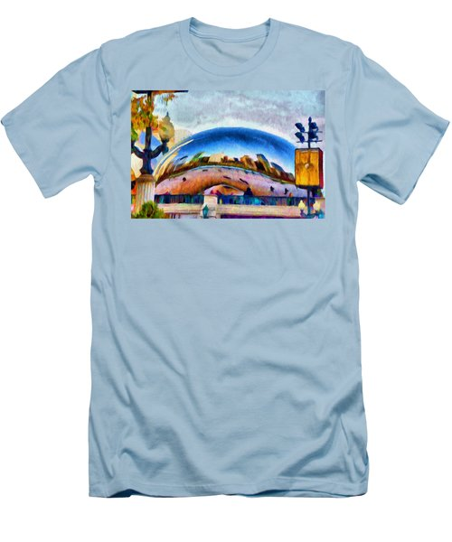 Chicago Reflected Men's T-Shirt (Slim Fit) by Jeff Kolker