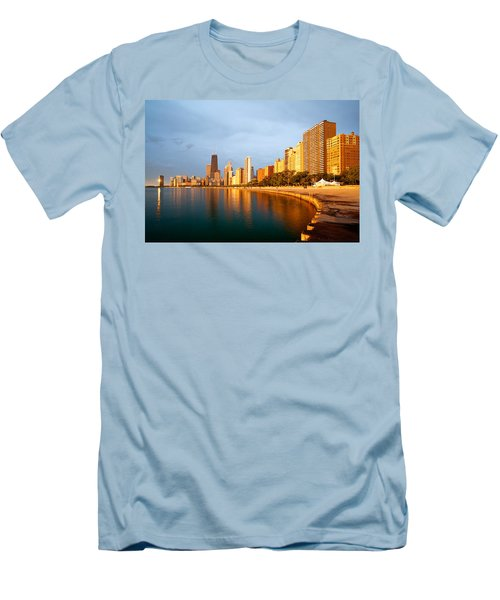 Men's T-Shirt (Athletic Fit) featuring the photograph Chicago Skyline by Sebastian Musial