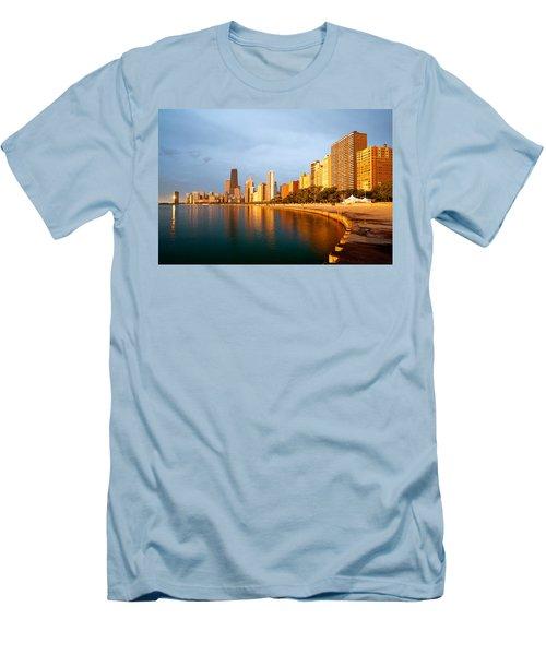 Chicago Skyline Men's T-Shirt (Slim Fit) by Sebastian Musial