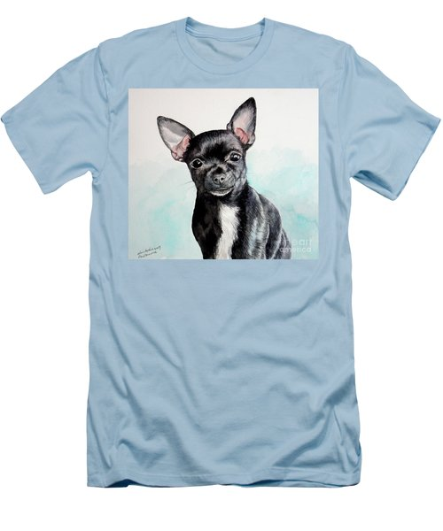 Chihuahua Black Men's T-Shirt (Athletic Fit)