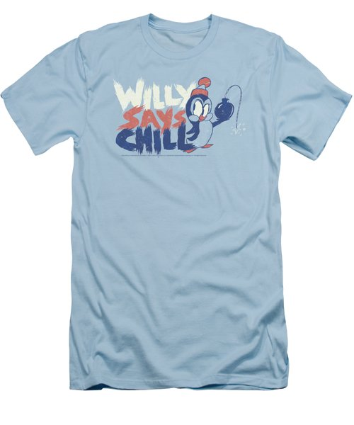 Chilly Willy - I Say Chill Men's T-Shirt (Slim Fit) by Brand A