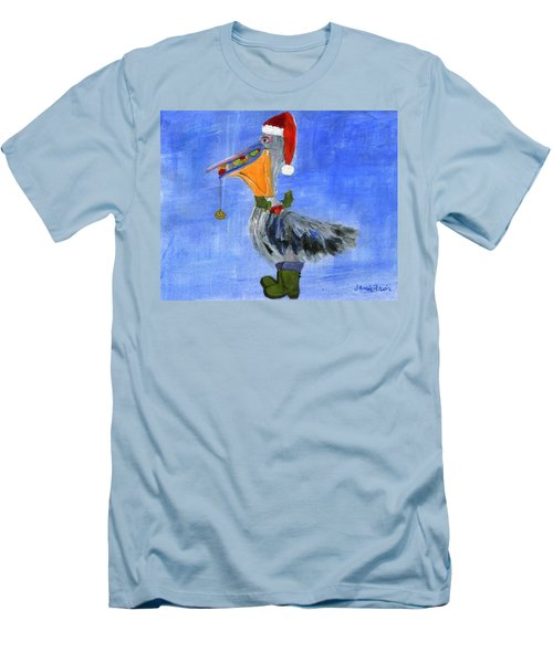 Christmas Pelican Men's T-Shirt (Athletic Fit)