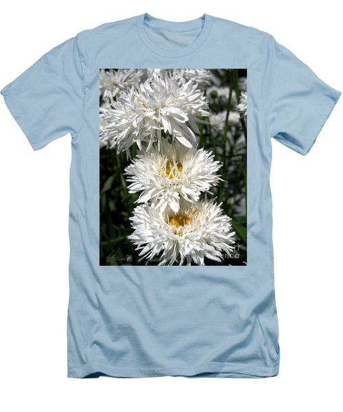 Men's T-Shirt (Slim Fit) featuring the photograph Chrysanthemum Named Crazy Daisy by J McCombie