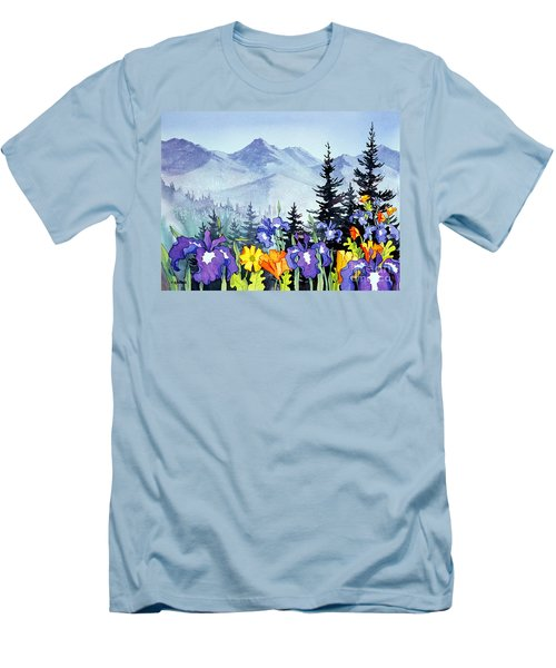 Men's T-Shirt (Slim Fit) featuring the painting Chugach Summer by Teresa Ascone