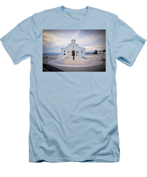 Church Of Croatian Martyrs In Udbina Men's T-Shirt (Athletic Fit)