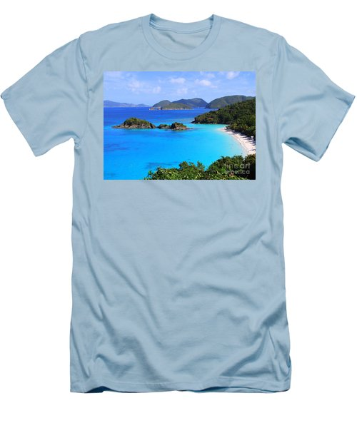 Cinnamon Bay St. John Virgin Islands Men's T-Shirt (Athletic Fit)