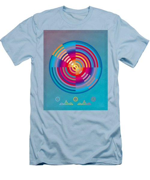 Circles Men's T-Shirt (Slim Fit) by David Klaboe