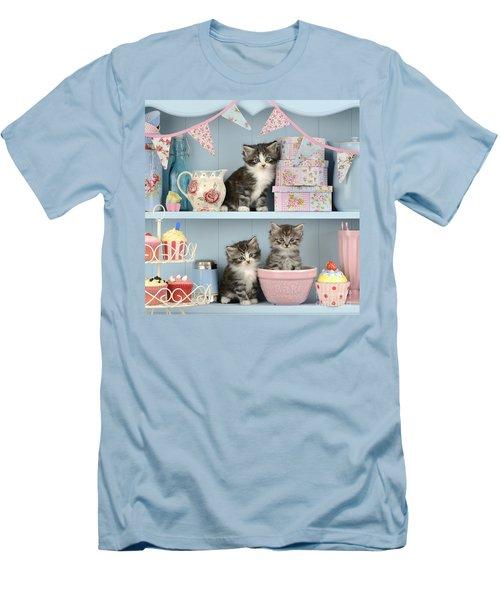 Baking Shelf Kittens Men's T-Shirt (Athletic Fit)
