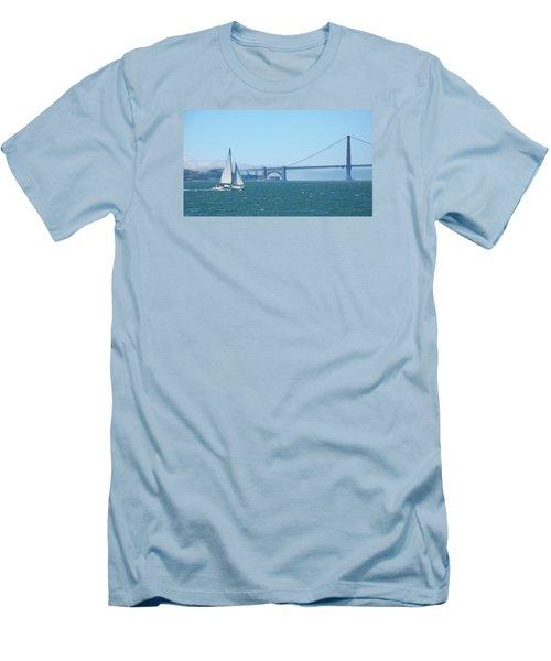 Classic San Francisco Bay Men's T-Shirt (Slim Fit) by Connie Fox