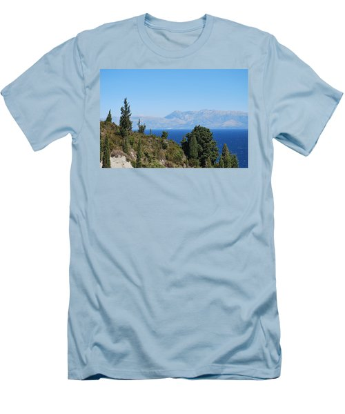 Men's T-Shirt (Slim Fit) featuring the photograph Clear Day by George Katechis