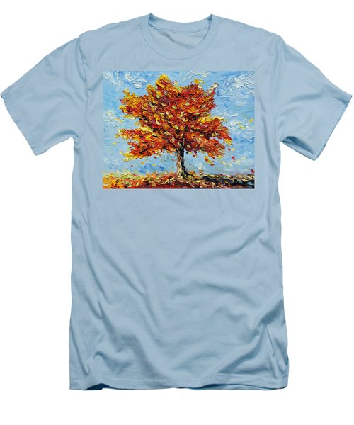 Men's T-Shirt (Slim Fit) featuring the painting Clothed With Joy by Meaghan Troup