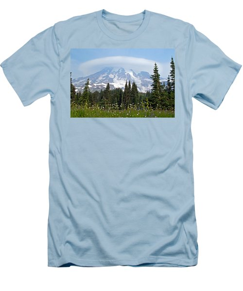 Cloud Capped Rainier Men's T-Shirt (Athletic Fit)